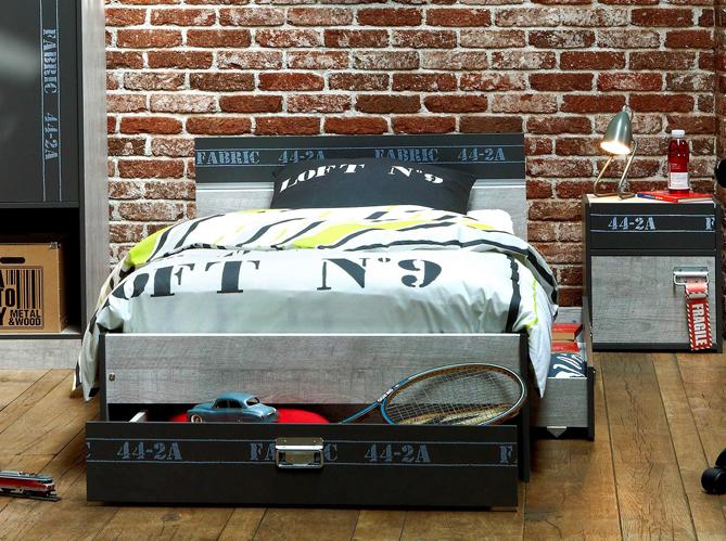 chambre deco urbaine. Black Bedroom Furniture Sets. Home Design Ideas