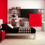 deco chambre ado noir et rouge