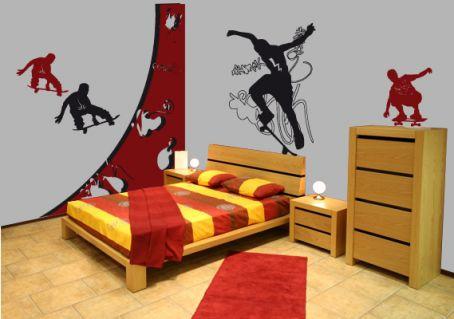 decoration chambre skateboard