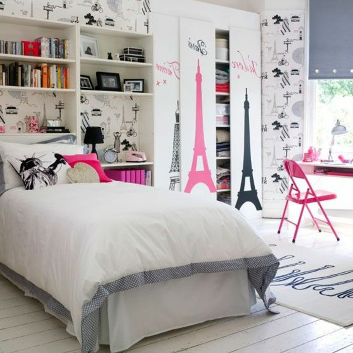 deco chambre ado theme paris