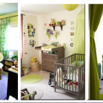 deco chambre bebe gris et vert