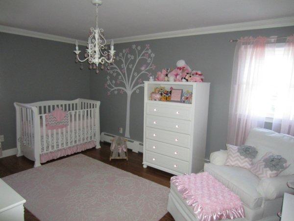 deco chambre bebe rose et gris - visuel #4