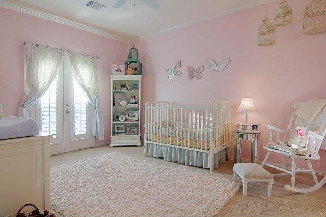 Deco Chambre Fille Rose Et Blanc - Visuel #3