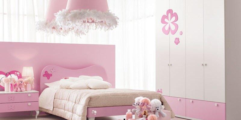 deco chambre fille rose et blanc - visuel #1