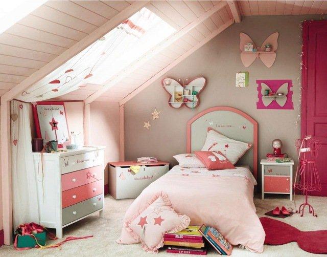 Deco chambre fille sous pente visuel 1 for Deco sous pente