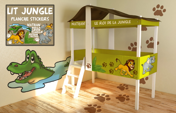 Deco chambre garcon jungle for Decoration chambre jungle
