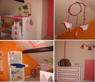 deco chambre garcon orange - visuel #5