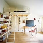 deco chambre lit mezzanine