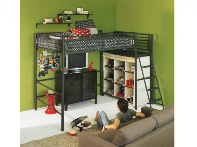 deco chambre lit mezzanine. Black Bedroom Furniture Sets. Home Design Ideas