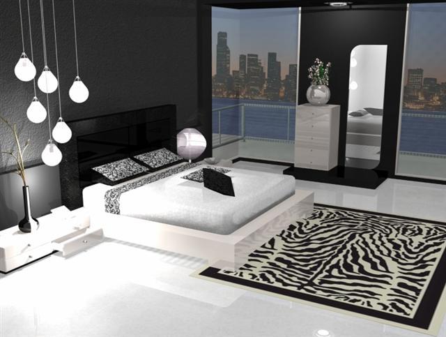 deco chambre noir blanc