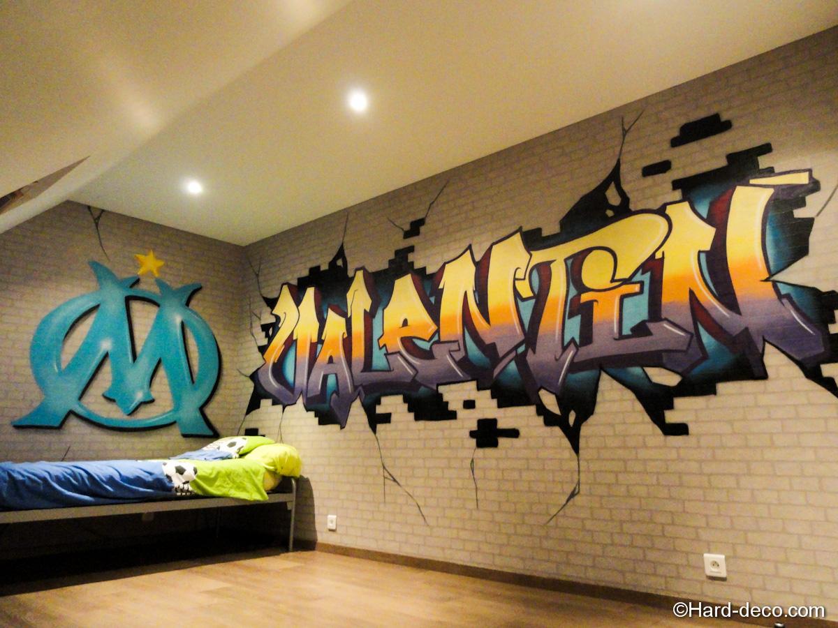 Deco chambre olympique de marseille - Graffiti prenom gratuit ...