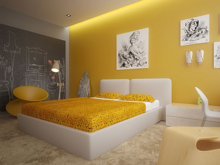 deco pour chambre jaune visuel 4. Black Bedroom Furniture Sets. Home Design Ideas