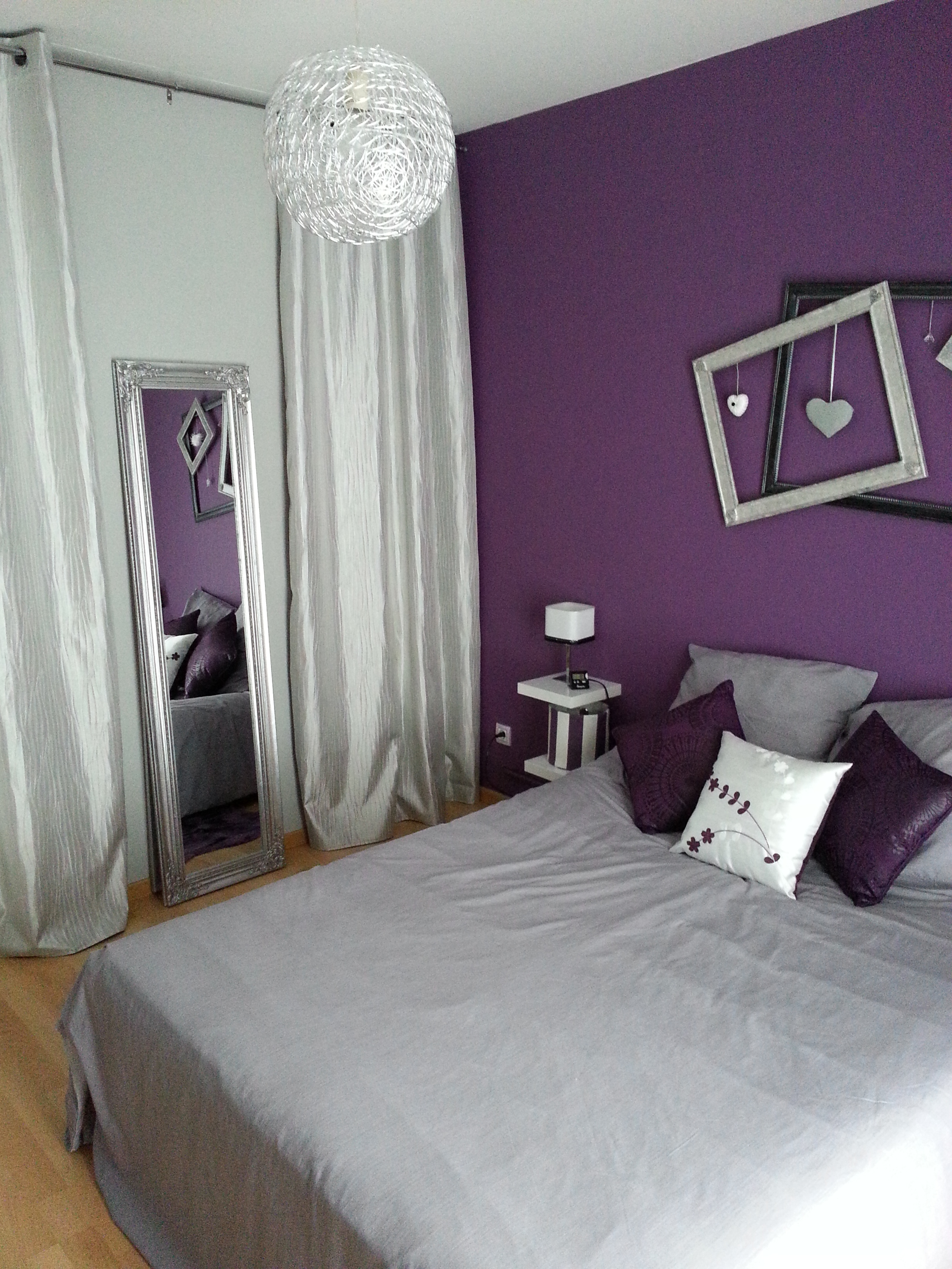 deco pour chambre mauve. Black Bedroom Furniture Sets. Home Design Ideas