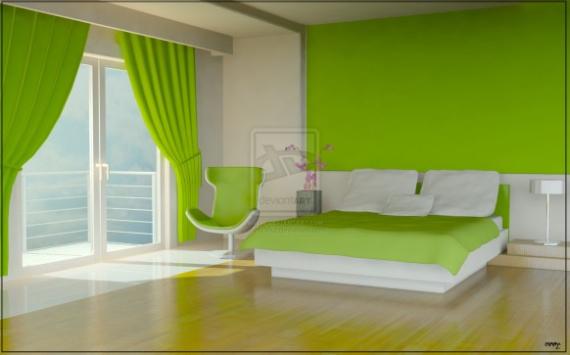Idee Deco Chambre Vert Anis