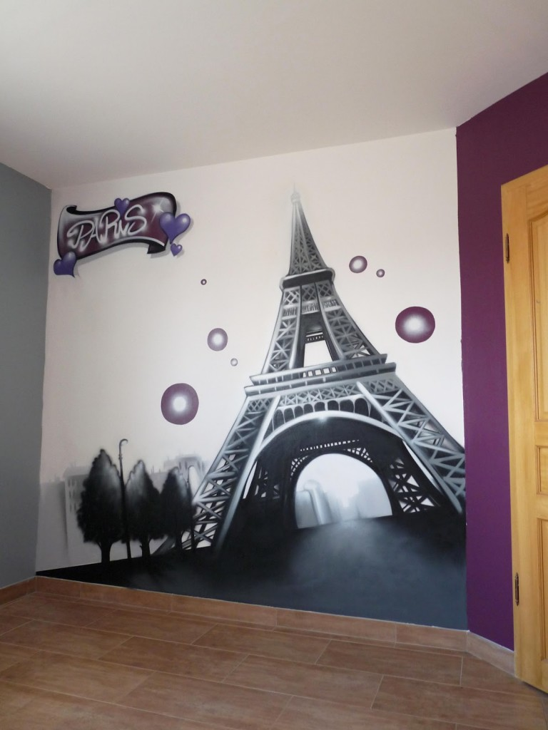 Decoration chambre ado theme paris - Chambre fille paris ...