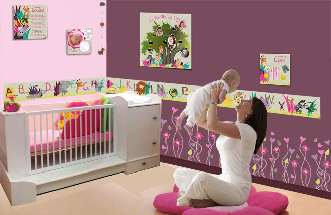 Decoration chambre bebe fille originale for Photo de chambre de bebe fille