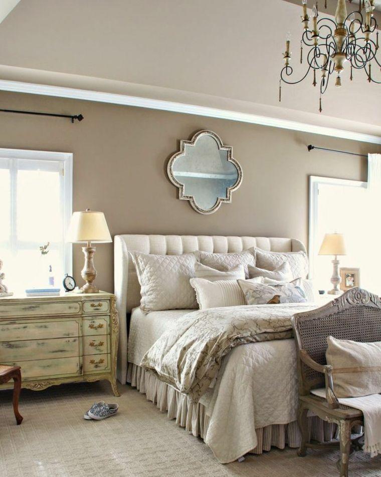 decoration chambre beige et blanc - visuel #7