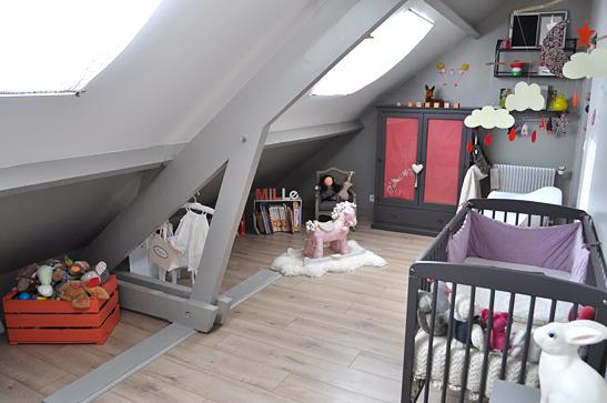 Chambre bébé fille mansardée - Idées de tricot gratuit