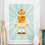 decoration chambre robot
