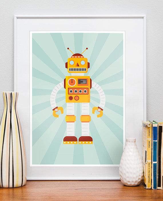 Decoration chambre robot visuel 6 for Decoration chambre robot
