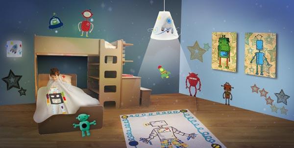 decoration chambre robot visuel 1