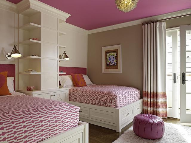 decoration chambre rose et beige - visuel #2