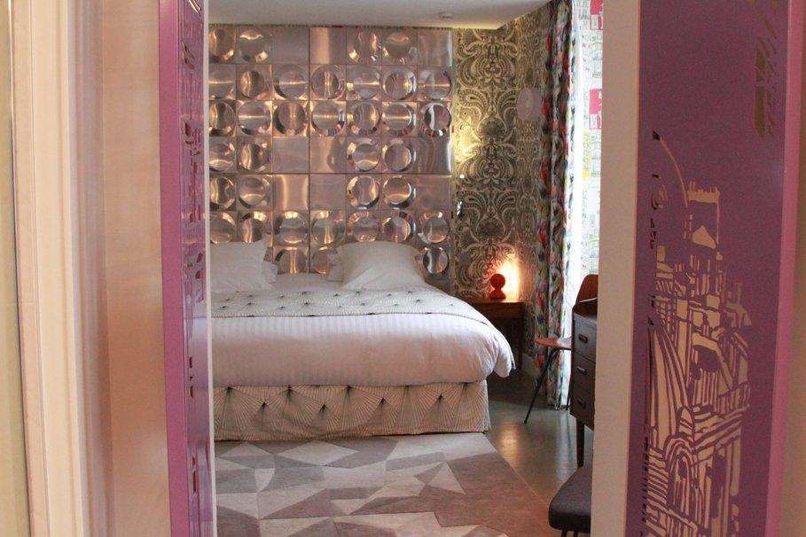 decoration chambre rose et beige - visuel #1