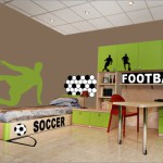decoration chambre theme foot