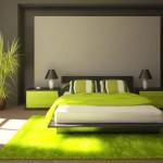 decoration de chambre vert
