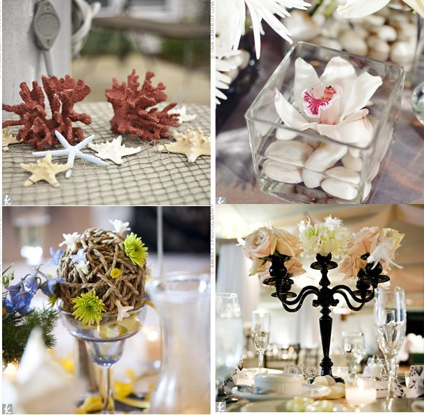 Decoration florale table mariage a faire so meme Centre table mariage plage idees