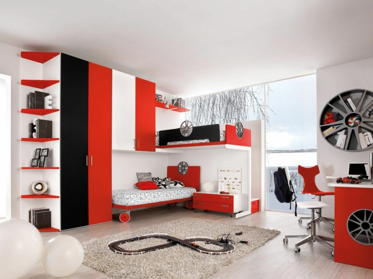 idee deco chambre ado rouge gris visuel 9. Black Bedroom Furniture Sets. Home Design Ideas