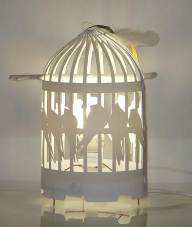 lampe cage oiseaux deco - visuel #7
