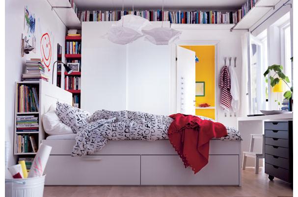 astuce rangement petite chambre visuel 4. Black Bedroom Furniture Sets. Home Design Ideas