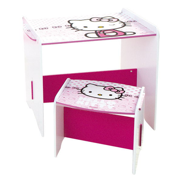 bureau petite fille hello kitty. Black Bedroom Furniture Sets. Home Design Ideas