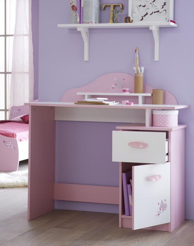 bureau pour fille rose visuel 7. Black Bedroom Furniture Sets. Home Design Ideas