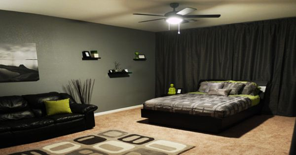 chambre d homme decoration visuel 4. Black Bedroom Furniture Sets. Home Design Ideas