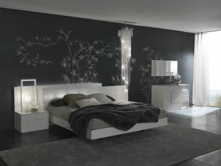 Marvelous chambre adulte noir et blanc 6 emejing deco chambre mur noir contemporary interior design ideas