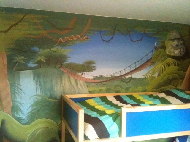 Chambre Ado Jungle : Deco chambre ado jungle visuel