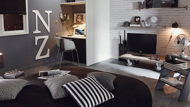 Le Coin Nuit With Chambre Ado Style Industriel. Chambre Style