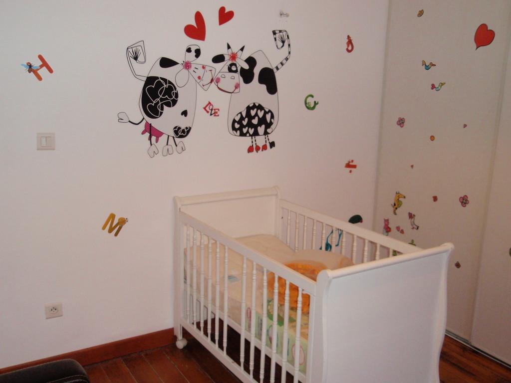 Stickers dcoration chambre bb prparez le cocon de bb for Stickers deco chambre