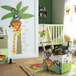 deco chambre bebe jungle