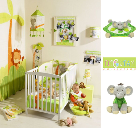Deco chambre bebe jungle savane for Stickers animaux chambre bebe