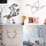 deco chambre fille masking tape