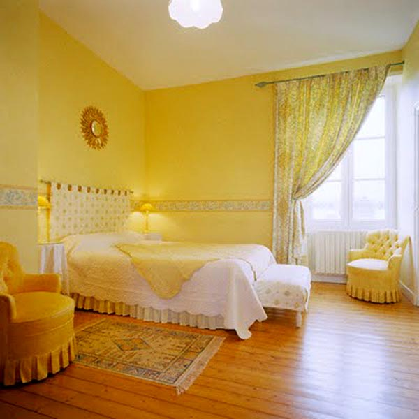 Deco chambre peinture jaune   Idées de travaux