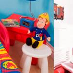 deco chambre sam le pompier. Black Bedroom Furniture Sets. Home Design Ideas