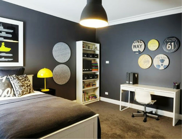 decoration chambre ado noir et blanc visuel 3. Black Bedroom Furniture Sets. Home Design Ideas