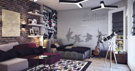 decoration chambre ado noir et blanc - visuel #8