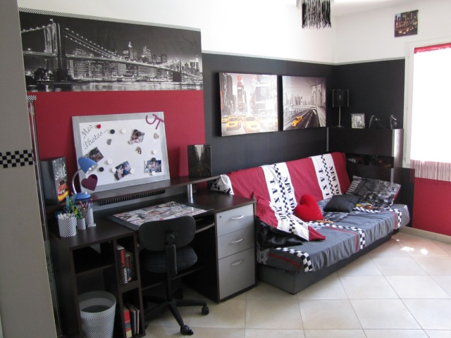 Dcoration Chambre Ado Noir Et Blanc. Deco Chambre Gris Blanc Rouge ...