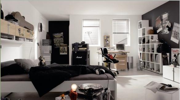 decoration chambre ado noir et blanc - visuel #1