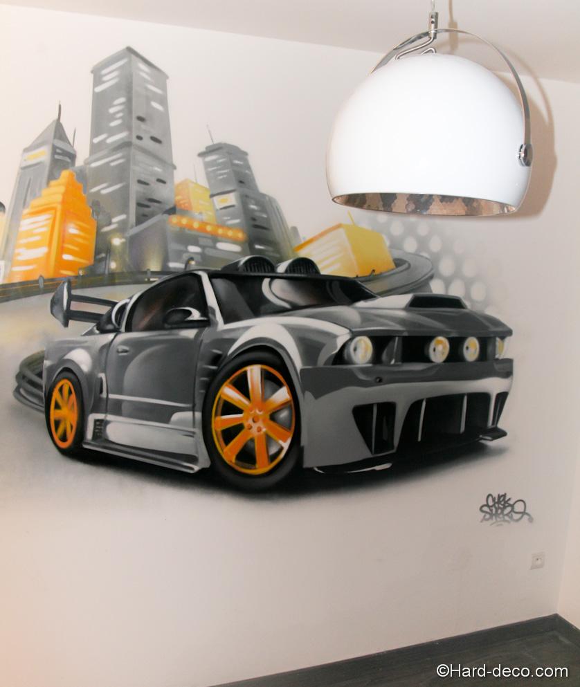 decoration chambre ado voiture - visuel #2